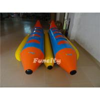 Best 0.9mm Pvc Tarpaulin Inflatable Fly Fish , Double Tubes Inflatable Banana Boat wholesale