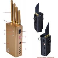 Jammer,Cellphone jammer, gps jammer,4 Antennas Portable CellPhone GPSL1 Signal Jammer With Dip Switch
