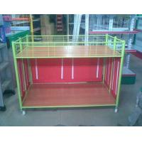 Quality Steel Supermarket Clothes Promotion Cart / Hand Push Exihibition Display Table wholesale
