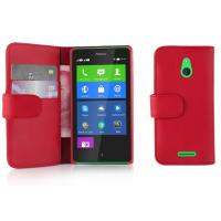 Quality Red Wallet Card Holder PU Leather Phone Cover with Stand For Lumia XL wholesale