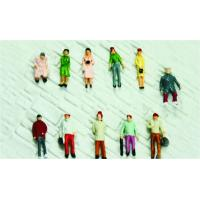 1:150 Architectural Scale Model People Painted Female Figures 1.3cm