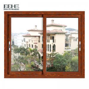 Economic Red Aluminium Horizontal Sliding Windows With Insect Screen 4mm
