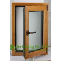 Quality Casement Type Wood Aluminum Window, Insulating Double Glass(Inside is natural wood) wholesale