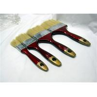 Short Bristle Flat Paint Brush With Red & Golden Lacquered Wooden Handle