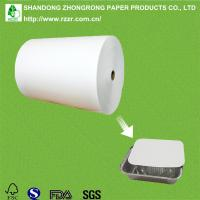 PE coated paperboard for alu foil container lids