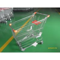 Quality Retail Store Steel Wheeled Shopping Cart 180 L Basket Bottom Rack wholesale