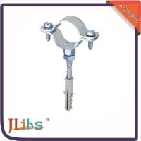 Cast Iron Pipe Clamps , Wall Mount Pipe Bracket With Nut Tapping Screw Nylon Plug