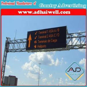 Gantry Cross Road Traffic Billboard LED Screen Sign
