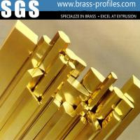 Cheap Long Using Life Brass Bar / Copper Strip In Brass Profiles Made In China for sale