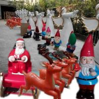 event party celebration christmas  party decoration colorful statue Santa man in garden/ hall/ supermarket