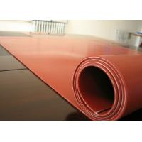 Best Dark Red Heat Resistant Silicone Rubber Sheet Rolls Reinforced To Insert 1PLY Fabric wholesale