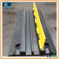 Best Yellow Jacket Rubber Cable Protector Ramp / Cable Cover / Cable Tray 2 Channel wholesale