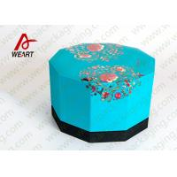 Quality Blue Lid & Black Base Cardboard Food Packaging Boxes , Decorative Cardboard Boxes With Lids wholesale