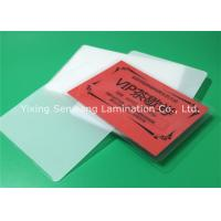 Quality Round Corner Hot Lamination Film , Moisture Proof Laminating Sleeves Pouches wholesale