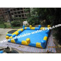 Best 0.6mm PVC Tarpaulin Inflatable Water Pools with step and Pillar and Net for amusement park wholesale