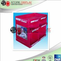 Quality Corrugated Kitchen 2 Tiers Dump Bin Display Red Recycled For Retail / Promotion wholesale
