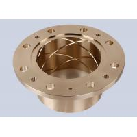 High Strength Bronze Alloy Flanged Sleeve Bearing For Injection Molders