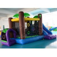 Quality CE PVC Jungle Inflatable Blow Up Bounce House Slide , Inflatables For Party wholesale
