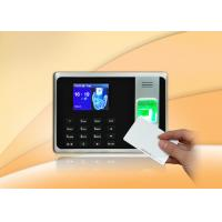 Buy cheap Fingerprint Based Attendance System with Li-battery , standard ID card reader from wholesalers