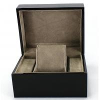 Quality Piano Paint Matte MDF Wooden Jewelry Box Grey Interior With Removable Cushions wholesale
