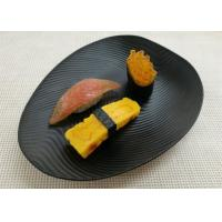 Buy cheap Imitation Porcelain Dinnerware Sets Korean - style Plate Black Color Ripple Finish from wholesalers
