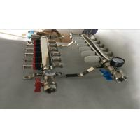S S 201 Floor Heating Manifold With Two Ball Valve / Brass Water Manifold