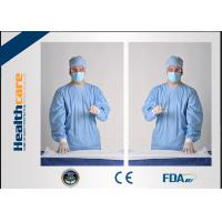 SMS Sterile Disposable Surgical Gowns , PP PE Spunlace Disposable Operating Gowns