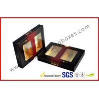 Buy cheap Matt Varnish Foil Paper Cigar Gift Box With Golden / Cigar Gift Sets from wholesalers