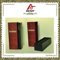 Quality Luxury Black Cardboard Paper Wine Top And Bottom Rigid Gift Boxes Without Handle wholesale