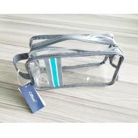 Quality Luxury Reusable Soft PVC Cosmetic Bag , Clear Makeup Bag With Hand Loop wholesale