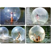 Transparent Inflatable Water Walking Balls , Water Zorb Ball For Kids