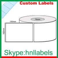 Quality Custom Thermal Label 102mmX150mm/1 Plain D/Thermal Roll Freez Perm No Perfs 1,000 76mm wholesale