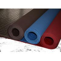 Best Red Industrial Rubber Sheet Top Round Button , Bottom Impression Fabric Non Slip wholesale
