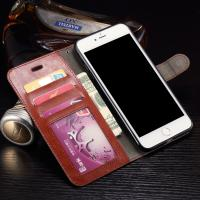 Quality Wallet Stand Leather Protective Case , Anti - Dirt Iphone 7 Plus Leather Wallet Case wholesale