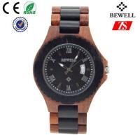Quality Japan Movement Wooden Wrist Watch With Spring Buckle , Logo Customized wholesale
