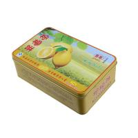 Buy cheap Lemon Cake Tin Box ,CYMK Printed Metal Container Food Graded 0.23mm from wholesalers