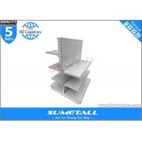 Best Commercial Retail Store Display Shelves , Steel Grocery Store Display Racks Double Side wholesale