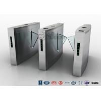 Quality Retractable Flap Barrier Turnstile Durable Anti Pinch Function Time Attendance System wholesale