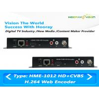 Quality MPEG-4 AVC / H.264 HDMI CVBS Video Digital TV Encoder Support Web Protocol wholesale