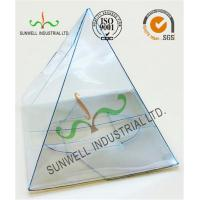 Quality Handmade Custom Gift / Craft Clear Packaging Boxes Triangle Glossy Lamination wholesale