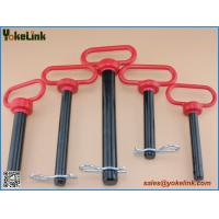 Red head hitch pin 7/8 with R Clip black powder coating for three point accessories