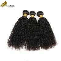 Quality 100% Unprocessed Kinky Curl Malaysian Virgin Hair Extensions Natural Black wholesale