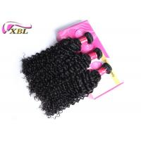 Best Full Cuticle Pure Raw Indian Virgin Curly Human Hair Weft Jet Black Curly 100g wholesale