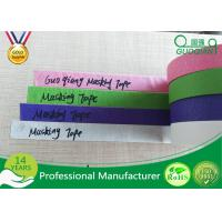 Quality Colored Crepe Paper without Residue Rubber Masking Tape 30m 48m Length wholesale