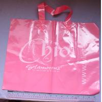 Pink Printed Garment Packaging Poly Bags Customizable Shopping Bags