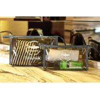 Quality PVC Travel Kit Zipper Pouch Transparent Vinyl Make-up Pouch for Swimming and Beach wholesale