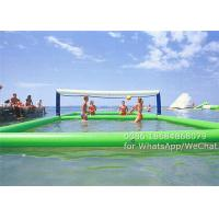 Commercial PVC Inflatable Water Sports , Inflatable Water Volleyball Court 11 x 4.5 m