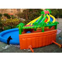 Best Customized Size Kids Inflatable Giant Water Park Game On Land With Long Crocodile wholesale
