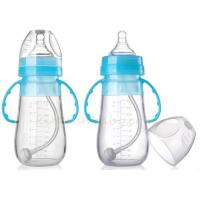 Quality BPA Free Silicone Baby Bottle for Infant Non - toxic Mlik Bottles With Handle wholesale