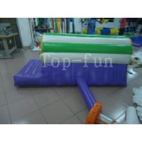 Commercial 0.9mm PVC Inflatable Water Parks Equipment Air Slide / Fall Mattress for kids 3m